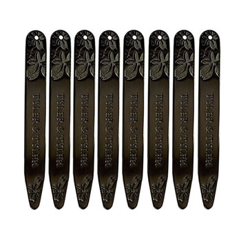 Black Metal Vine Collar Stiffener Set