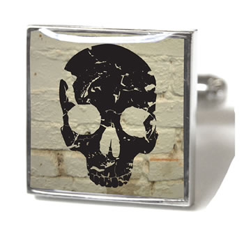 Skull White Brick Cufflinks