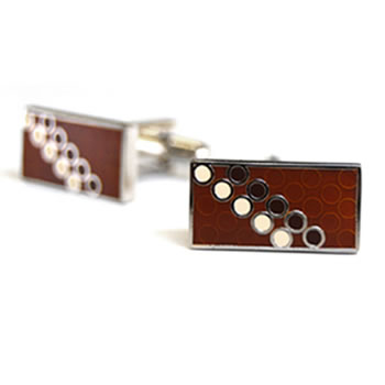 Disco Brown Cufflinks
