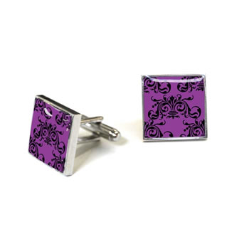 Clarence Purple And Black Cufflinks