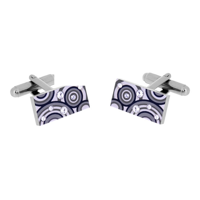 Grey Swarovski Crystals Louis Cufflinks