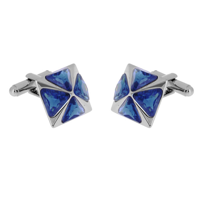 Blue Pyramid Style Cufflinks