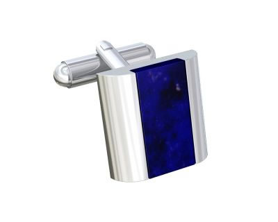 Blue Goldstone Modern Twist Cufflinks