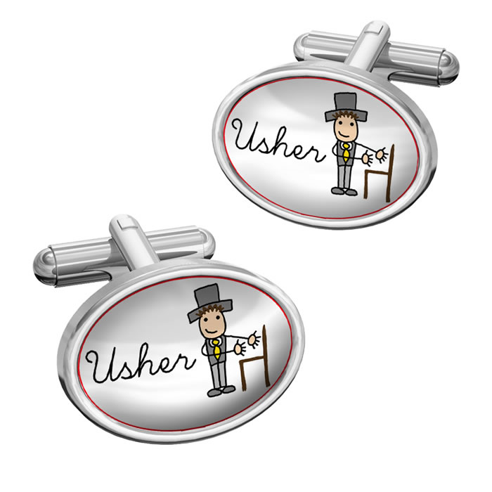 Usher Cartoon Cufflinks