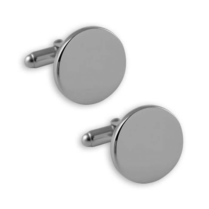 Sterling Silver Circular T-Bar Cufflinks