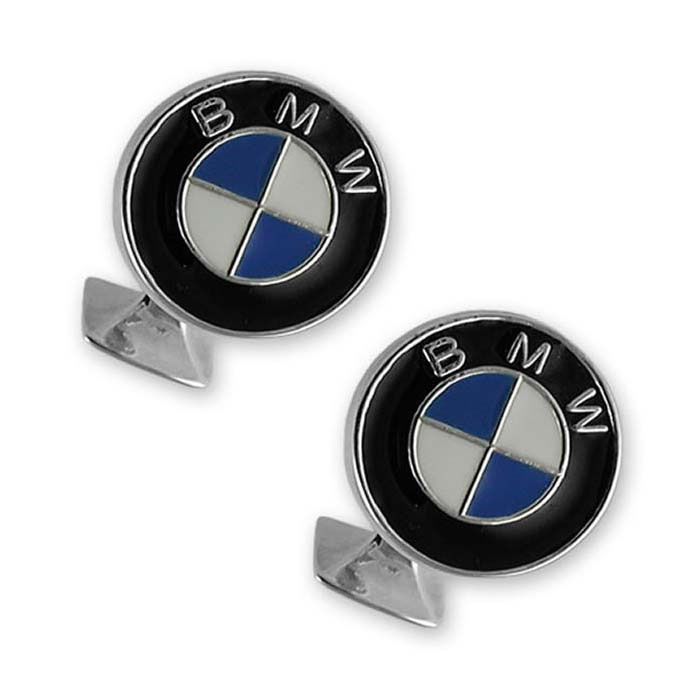 Plated Sterling Silver BMW Cufflinks