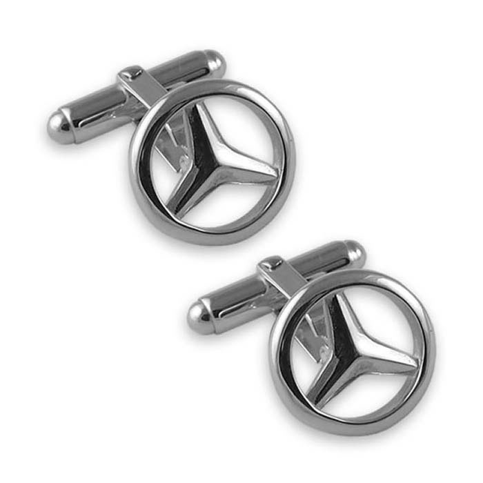 Sterling Silver Mercedes Cufflinks