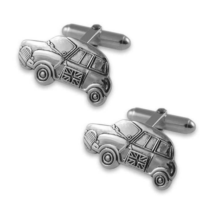 Plated Sterling Silver Mini Car Cufflinks
