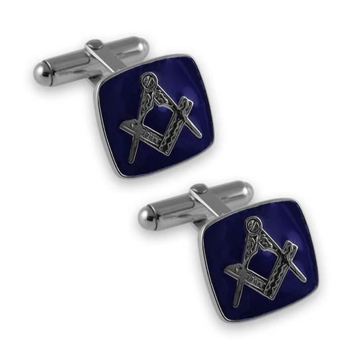 Sterling Silver Masonic Square Cufflinks