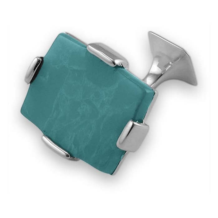 Sterling Silver Turquoise Style Cufflinks