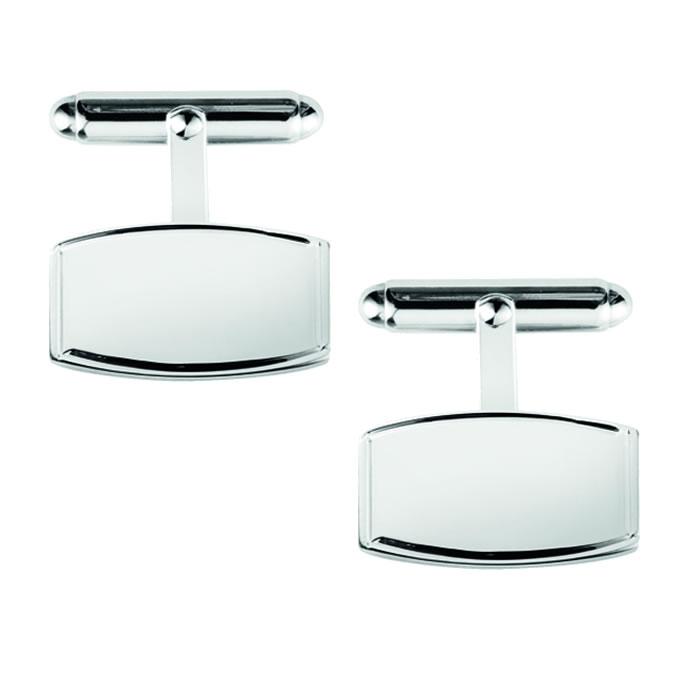 Sterling Silver Irregular Post Cufflinks
