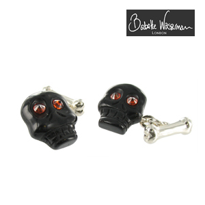 Black Onyx Skull Cufflinks
