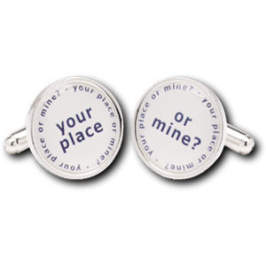Your Place Or Mine Duos Silver Plated Cufflinks