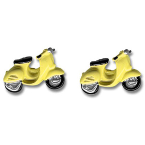 Yellow Scooter Shaped Cufflinks