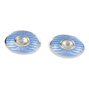 Silver Moonstone Cufflinks