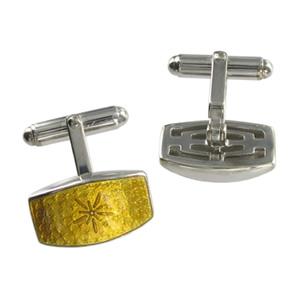 Silver Gold Star Cufflinks