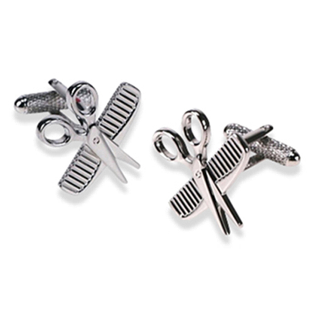 Scissor And Comb Cufflinks