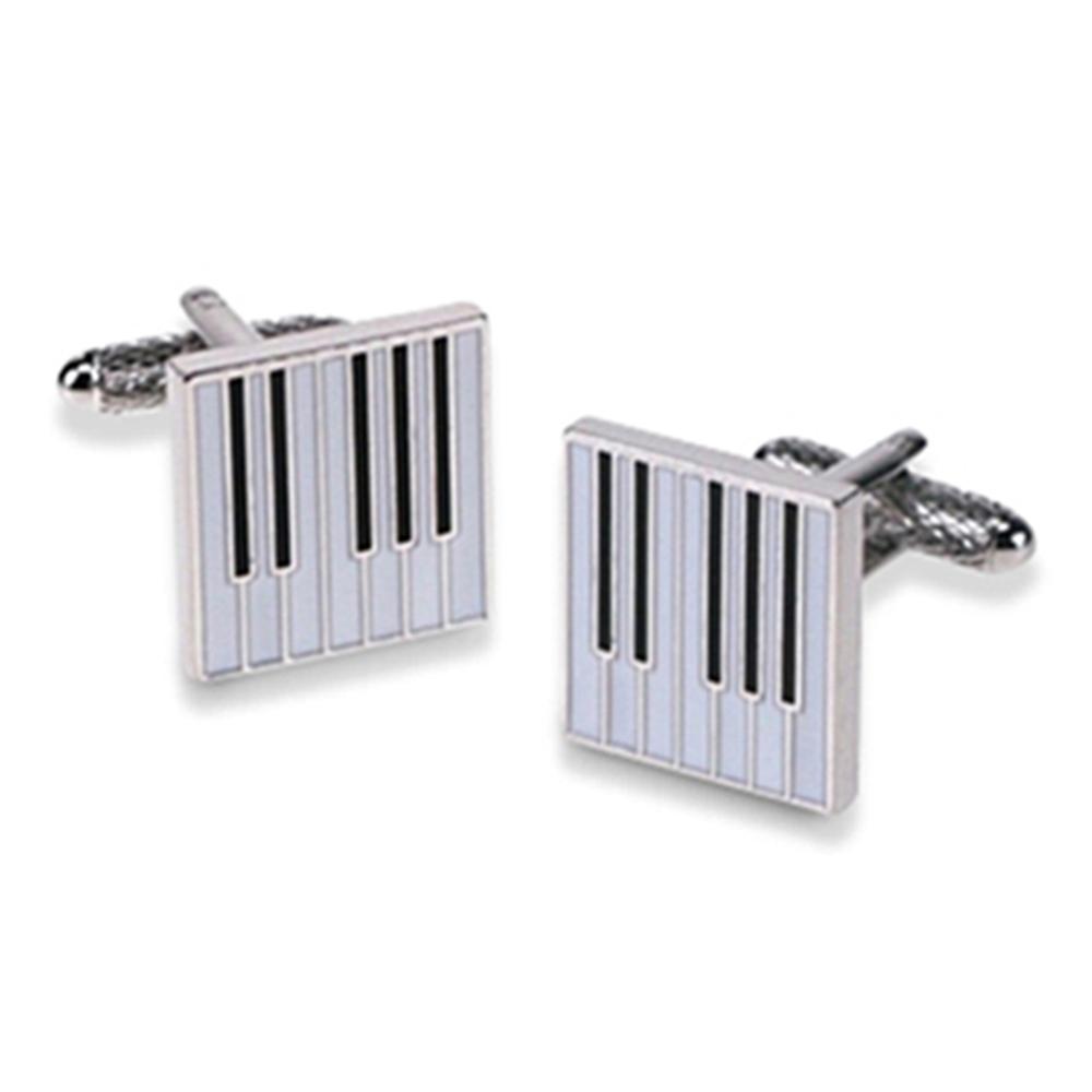 Square Piano Keyboard Cufflinks