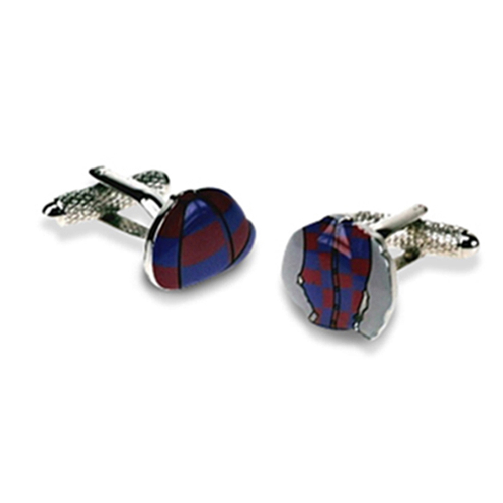 Jockey Cap And Shirt Cufflinks (Blue And Pink)