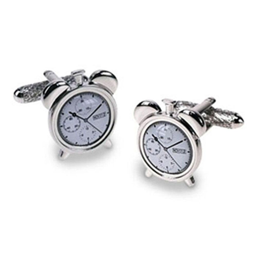 Alarm Style Cufflinks - Non Working Clock