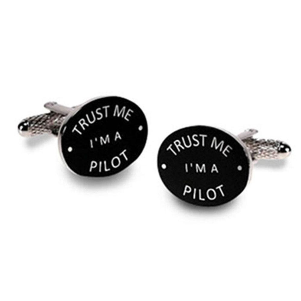 Trust Me I'M A Pilot Cufflinks