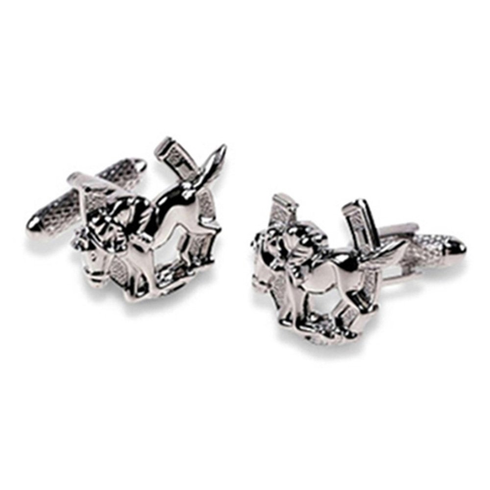 Horseshoe  And Jockey Cufflinks
