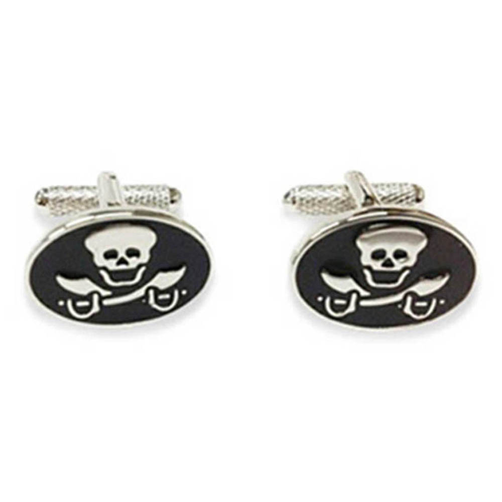 Skull With Crossed Swords Cufflinks