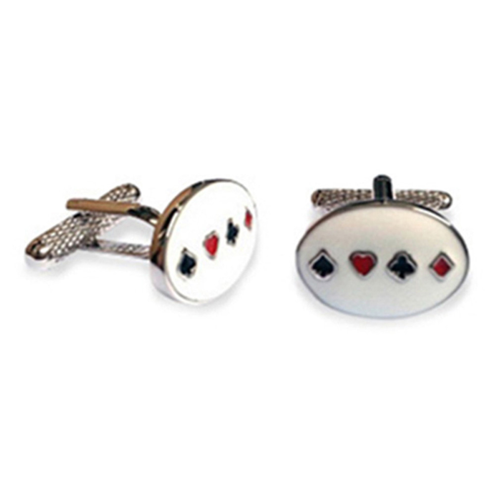 Four Card Suit Cufflinks
