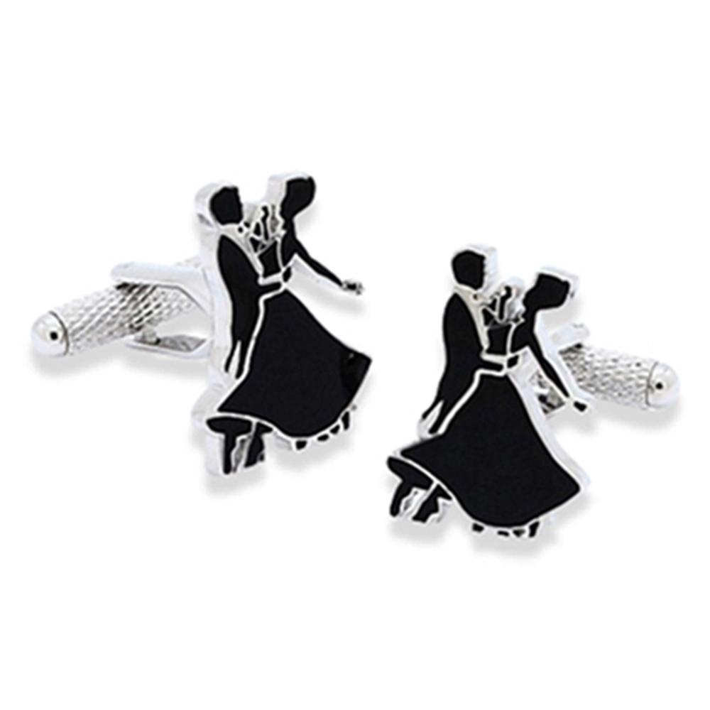 Ballroom Dancing Silhouette Cufflinks