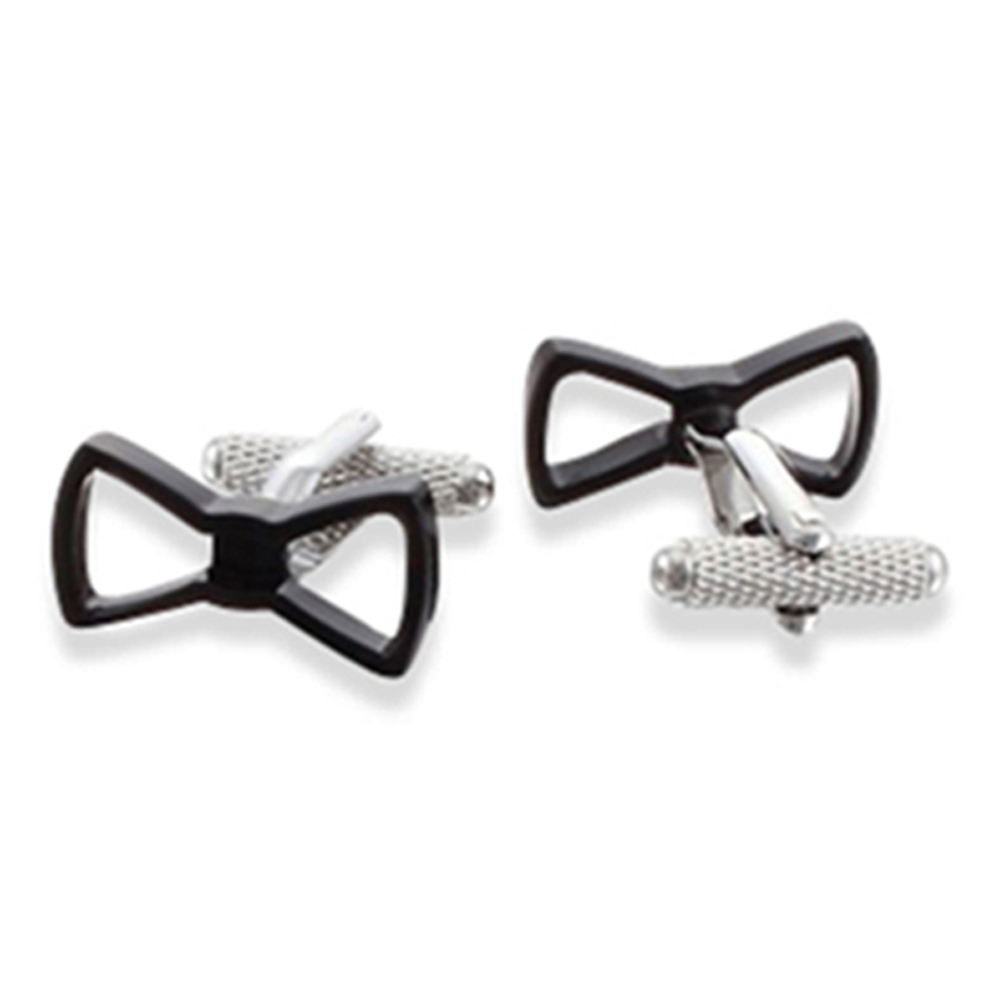 See Through Bow Tie Cufflinks