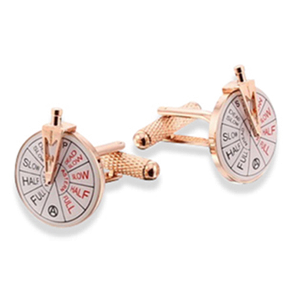 Ship Telegraph With Handle - Rose Gold Cufflinks