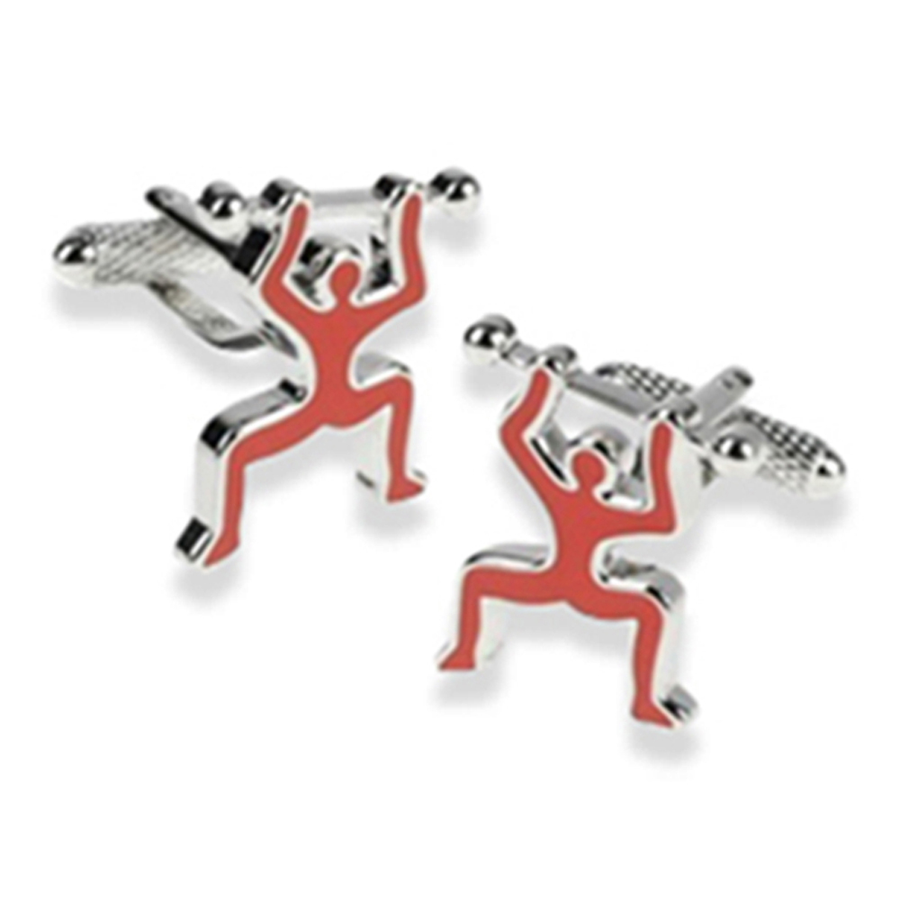 Weight Lifter Cufflinks
