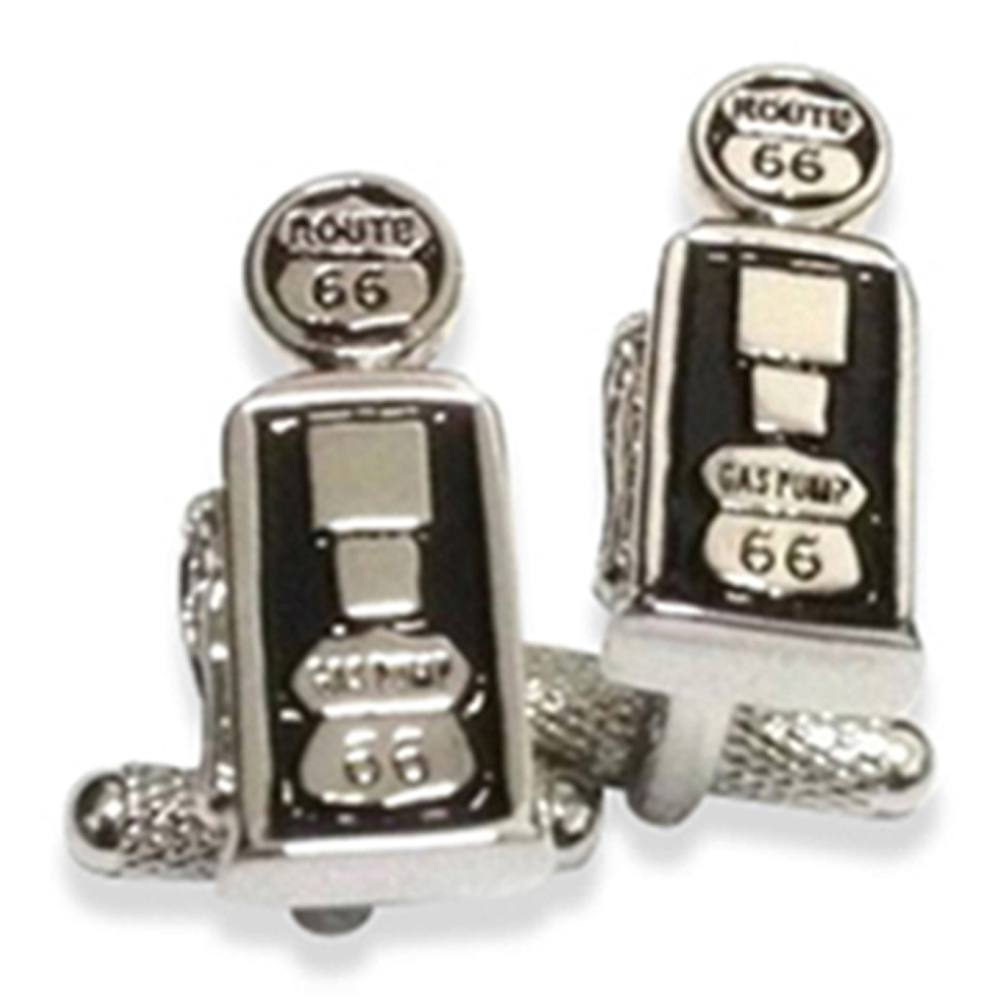 Route 66 Petrol Pump Retro Cufflinks