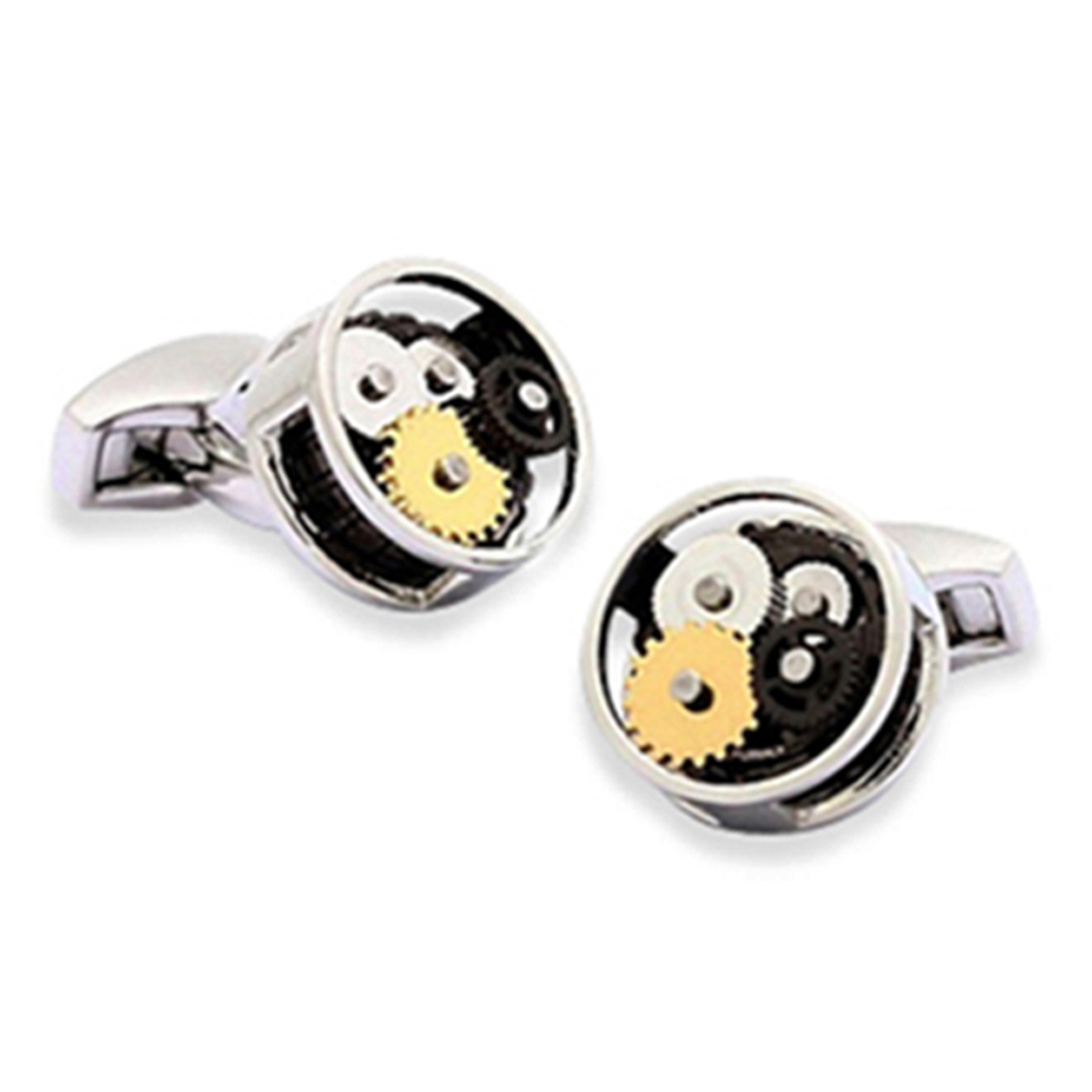 Gear Cufflinks Rhodium
