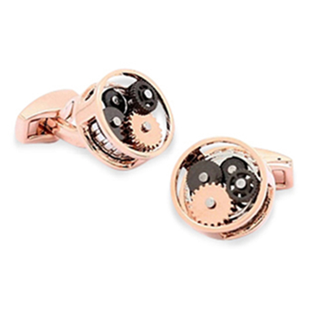 Gear Cufflinks Rose Gold