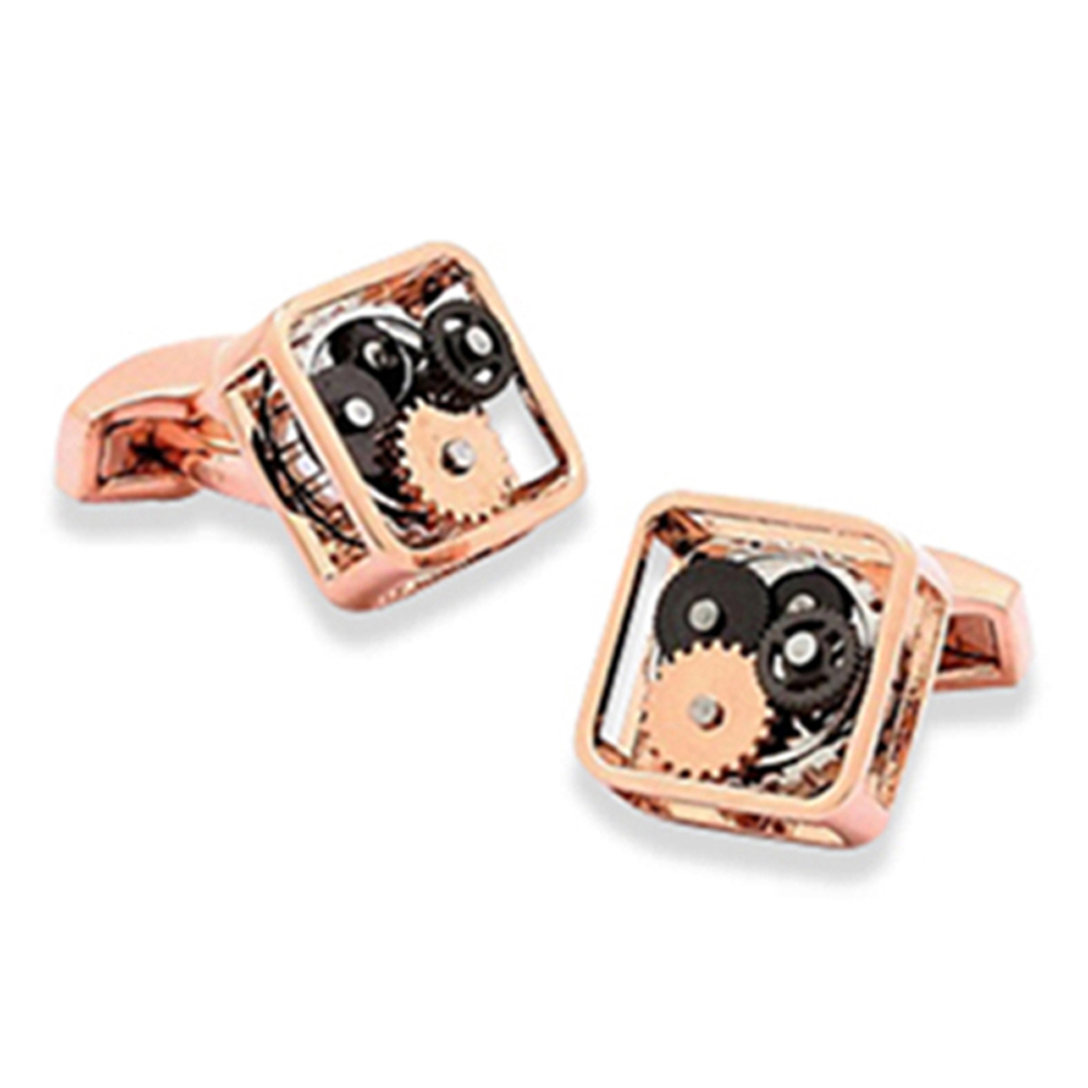 Gears Cufflinks - Square Rose Gold