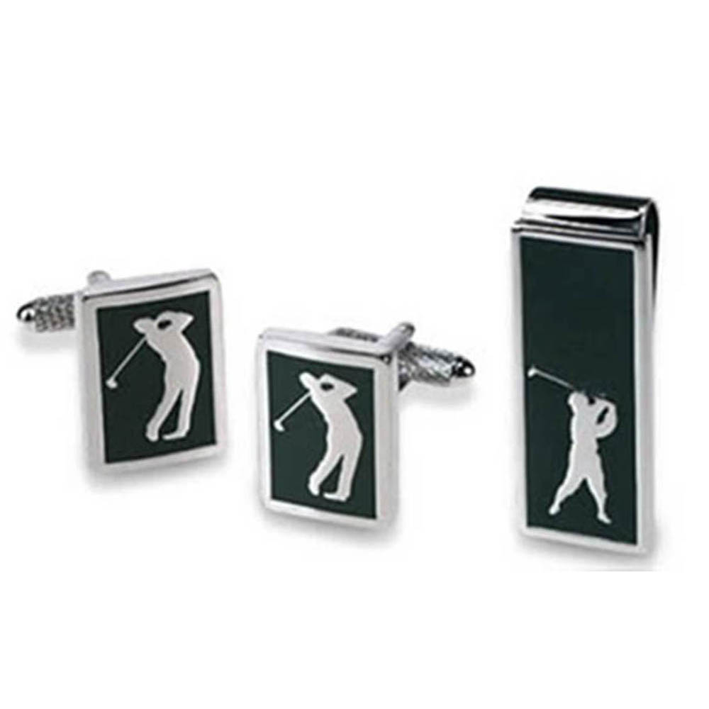 Golfer Money Clip & Cufflink Set