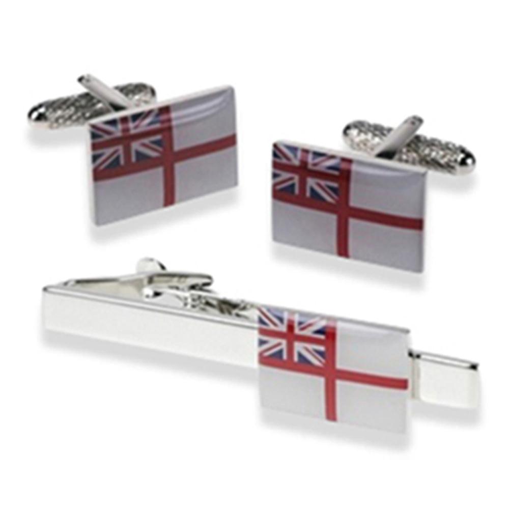 Tie Bar & Cufflink Set - Royal Navy Ensign