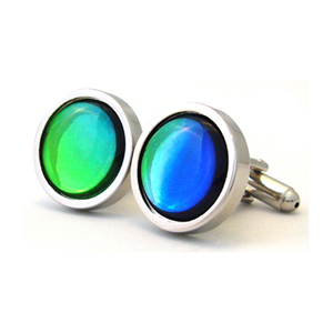 Big Apple Emerald Blue Cufflinks
