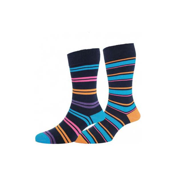 Navy and Turquoise Twin Pair Socks