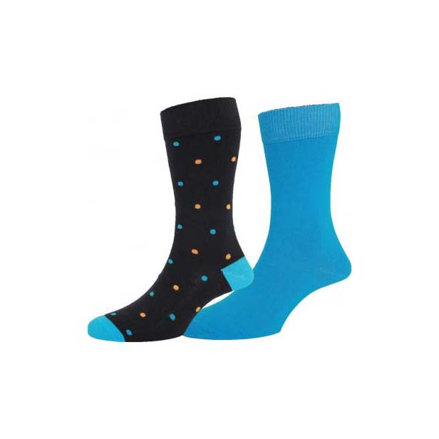 Black with Spots, plus Turquoise Twin Pair Sock Pack