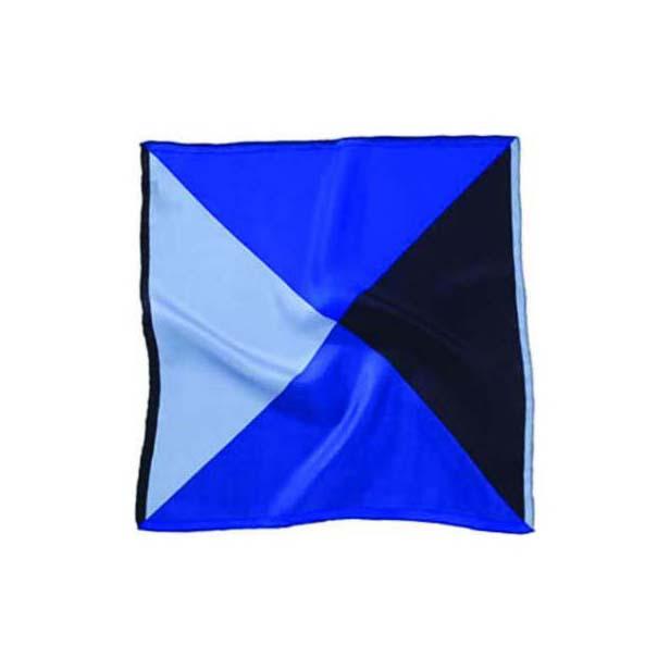 Blue Mix Silk Pocket Square