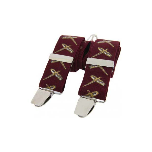 Flying Pheasant Themed Burgundy Braces