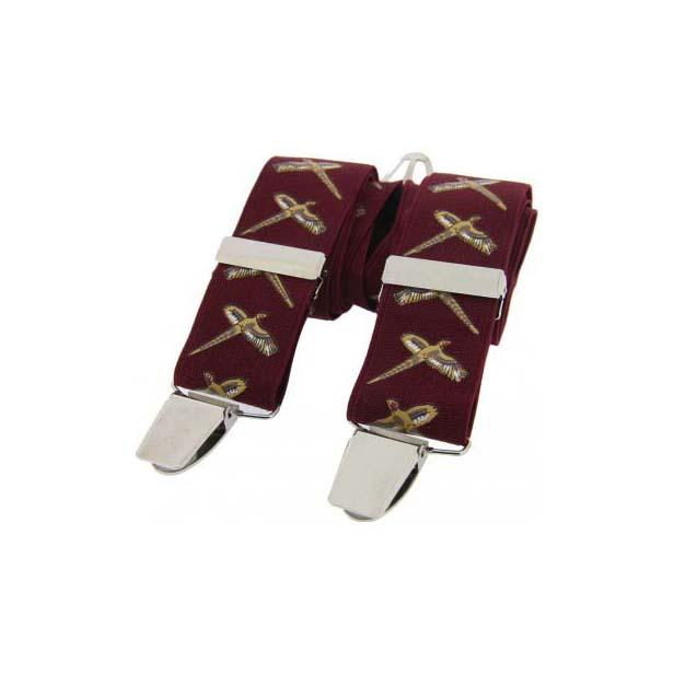 Flying Pheasant Themed Burgundy Braces