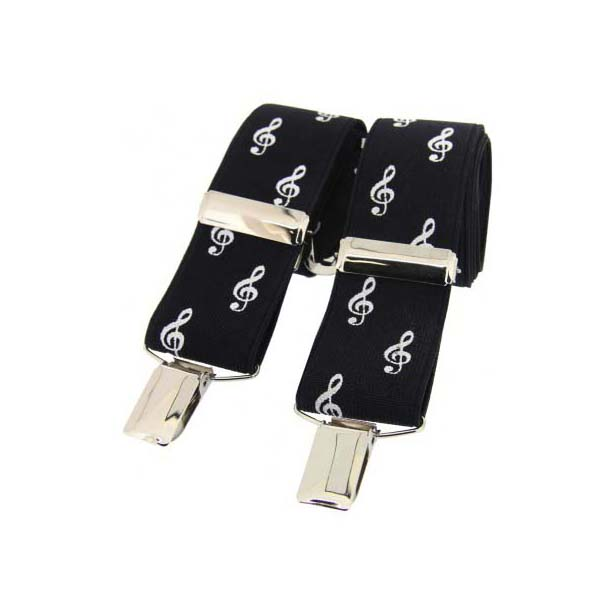 Black on White Treble Clef Themed Braces