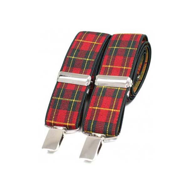 Royal Stewart Tartan Themed Braces