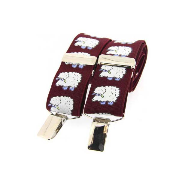 White Sheep Themed Braces