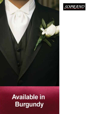 Burgundy Pre Tied Wedding Cravat