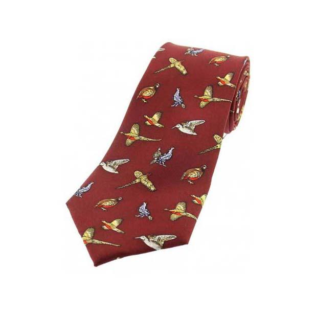 Country Birds On Wine Children's Silk Tie