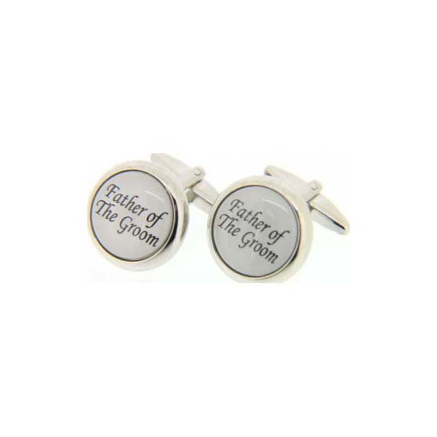 Father Of The Groom Enamelled Cufflinks